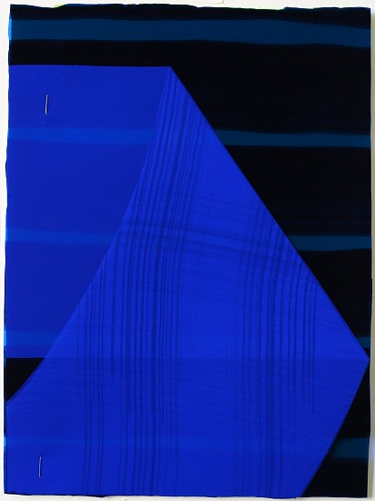 KATE PETLEY, FOLD #4 acrylic, ink, film and staples on paper