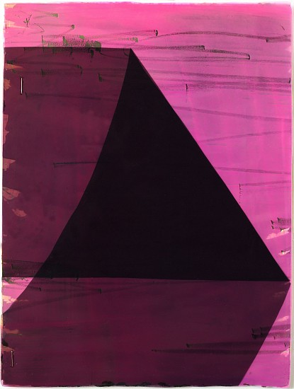 KATE PETLEY, FOLD #5 acrylic, ink, film and staples on paper