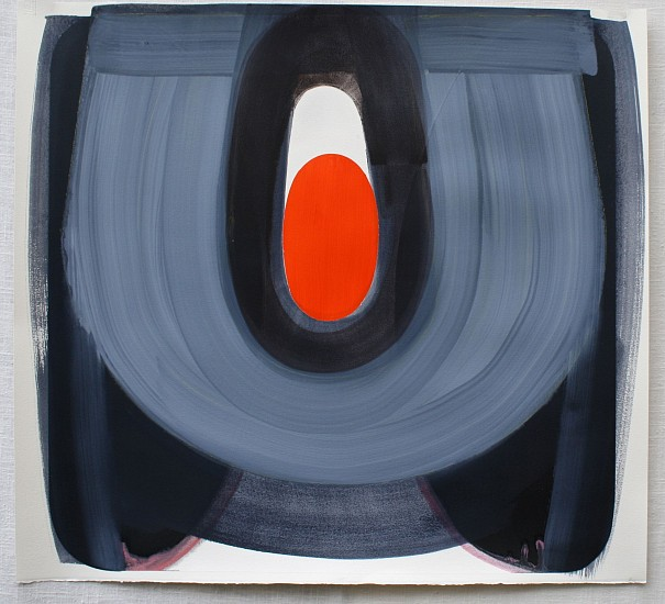 MARCELYN MCNEIL, ORANGE IN THE MIDDLE oil on paper