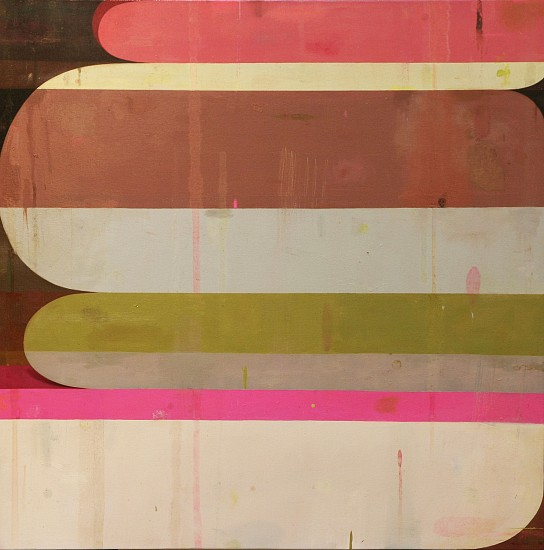 DEBORAH ZLOTSKY, Red blueprint oil on canvas