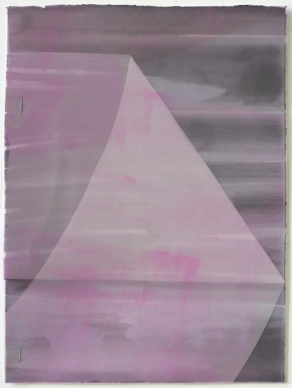KATE PETLEY, FOLD #10 acrylic, ink, film and staples on paper