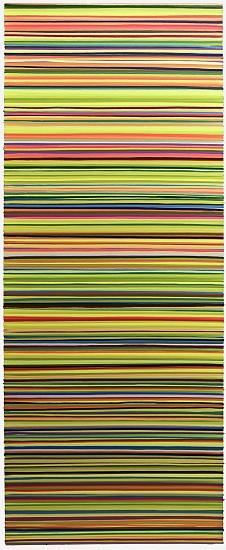 WENDI HARFORD, REVERB, BABY latex acrylic on canvas
