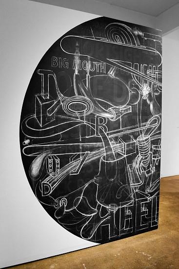 DEBORAH ZLOTSKY, Body politic chalk on wall
