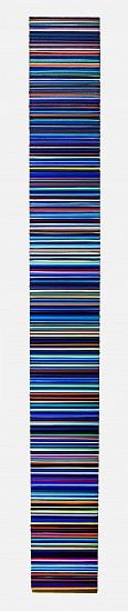 WENDI HARFORD, BLUE STREAK II latex acrylic on canvas