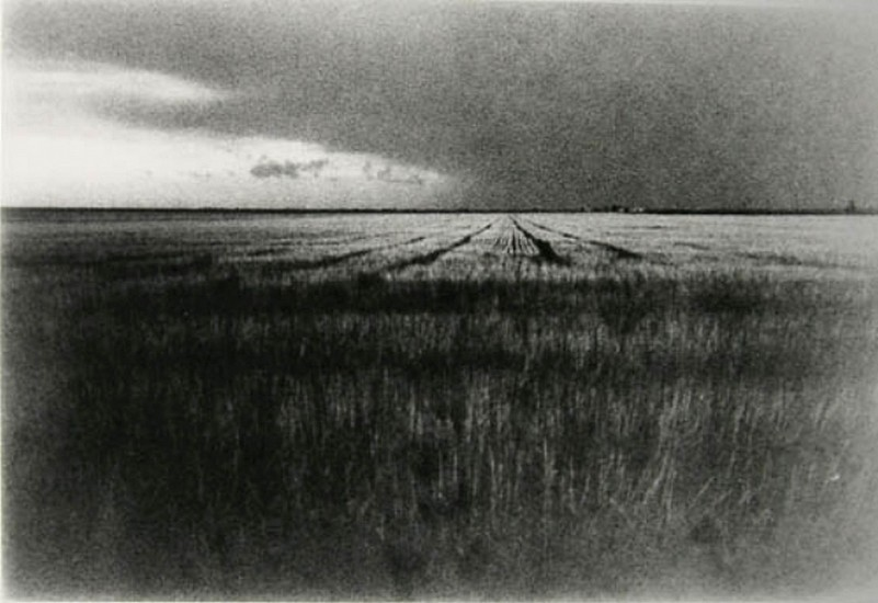 DAVID SHARPE, STORM ENTERING OVER FIELD silver gelatin print