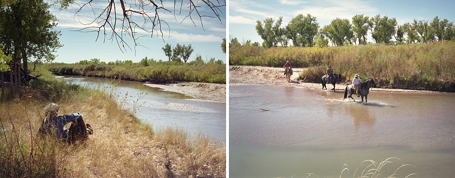 EDIE WINOGRADE, OUTSIDE THE FORT, TWO VIEWS (LA JUNTA, COLORADO)  (diptych) ED 10 pigment print