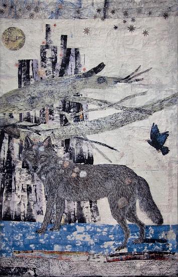 KIKI SMITH, CATHEDRAL  9/10 cotton Jacquard tapestry