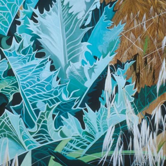 KAREN KITCHEL, PROMONTORY 11 oil on wood