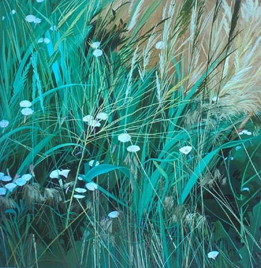 KAREN KITCHEL, Field Bindweed #6 oil on wood