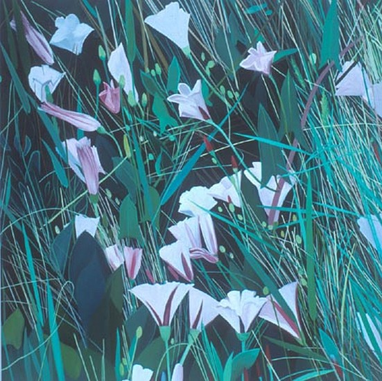 KAREN KITCHEL, Field Bindweed # 10 oil on wood