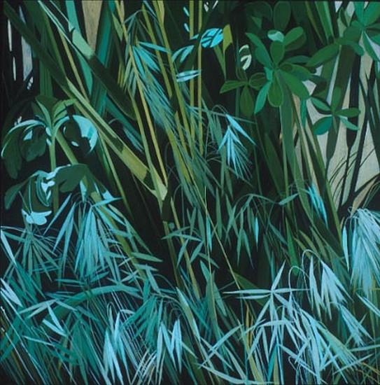 KAREN KITCHEL, Median # 11 oil on wood