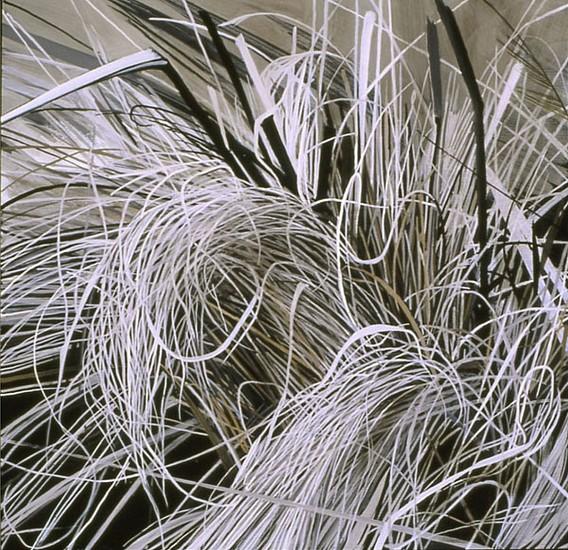 KAREN KITCHEL, DEAD GRASS 11, EARLY SPRING oil on panel