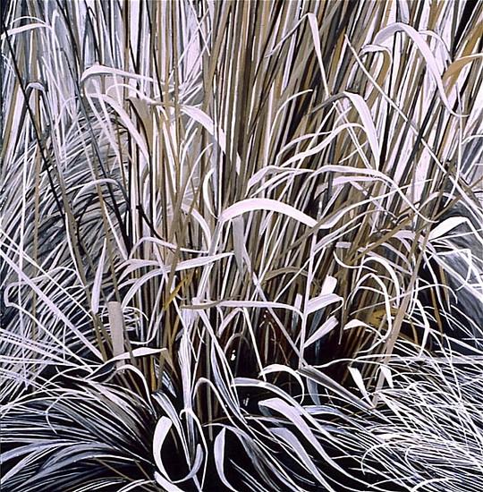 KAREN KITCHEL, DEAD GRASS 16, EARLY SPRING oil on panel