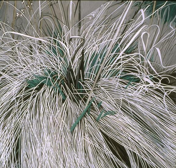 KAREN KITCHEL, DEAD GRASS 19, EARLY SPRING oil on panel