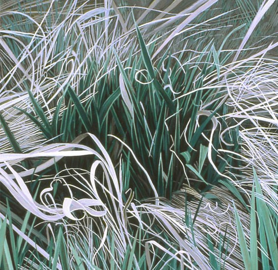 KAREN KITCHEL, DEAD GRASS 20, EARLY SPRING oil on panel