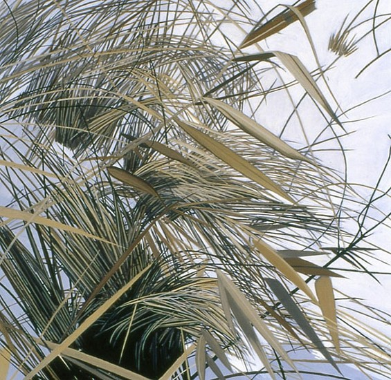 KAREN KITCHEL, DEAD GRASS 1, WINTER oil on panel