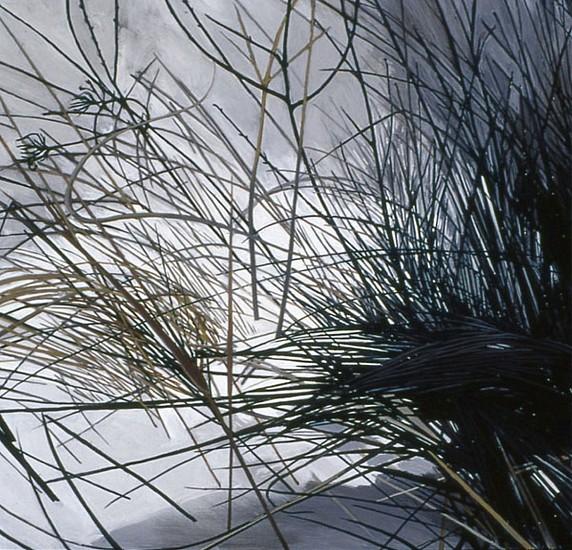 KAREN KITCHEL, DEAD GRASS 3, WINTER oil on panel