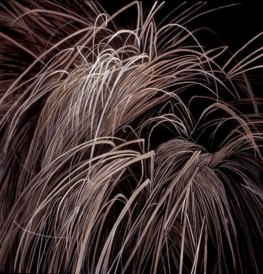 KAREN KITCHEL, DORMANT GRASS #4 oil on panel