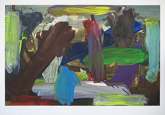 BOB KNOX, DUSK (OVER POUSSIN) acrylic on canvas