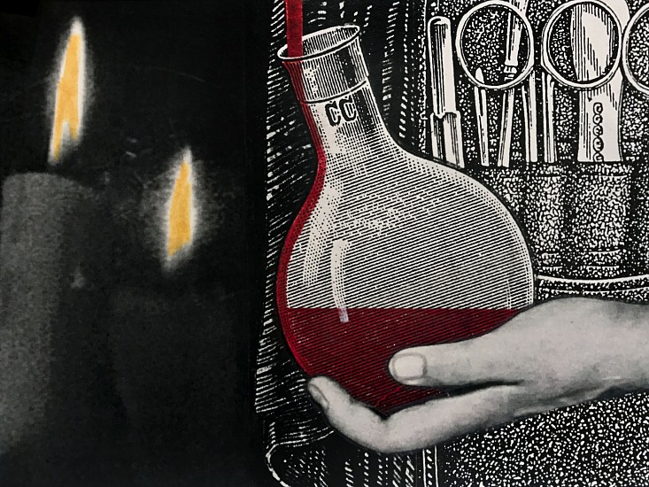 STACEY STEERS, EDGE OF ALCHEMY Ed. 10 (BEAKER AND FLAMES) archival pigment print