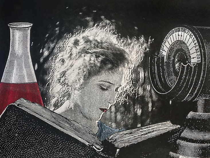 STACEY STEERS, EDGE OF ALCHEMY Ed. 10 (WOMAN READING, BEAKER) archival pigment print