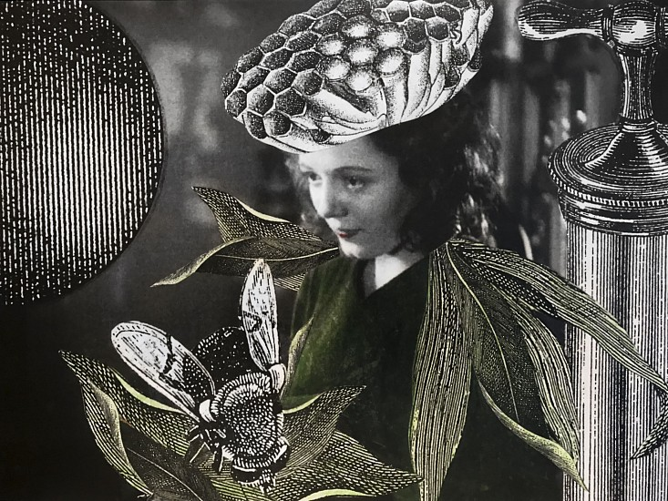 STACEY STEERS, EDGE OF ALCHEMY Ed. 10 (WOMAN WITH WASP NEST CROWN) archival pigment print