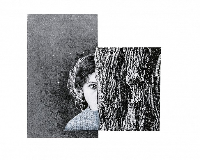 STACEY STEERS, EDGE OF ALCHEMY DIPTYCH<br /><br />Unique Edition hand-worked photo collage