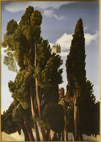 WES HEMPEL, Home Above the Trees oil on canvas