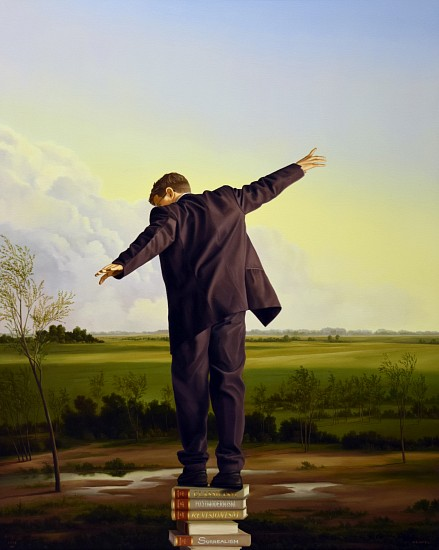 WES HEMPEL, The Revisionist oil on canvas