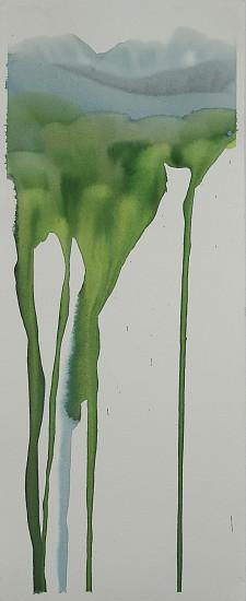 NIKKI LINDT, MELTING GLACIER 1 watercolor on paper