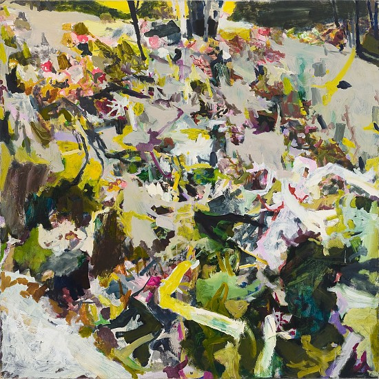 ALLISON GILDERSLEEVE, WRITTEN UNDER oil and alkyd on canvas