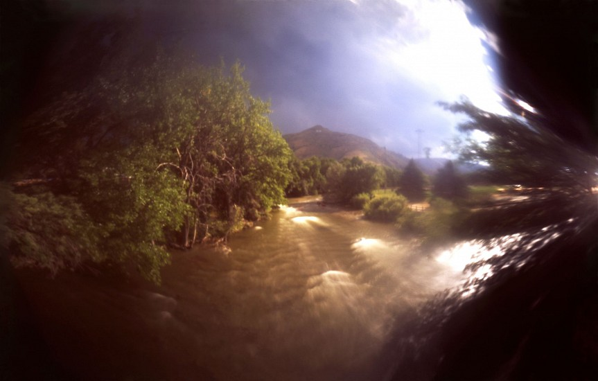 DAVID SHARPE, WATERTHREAD 75 color pinhole photograph