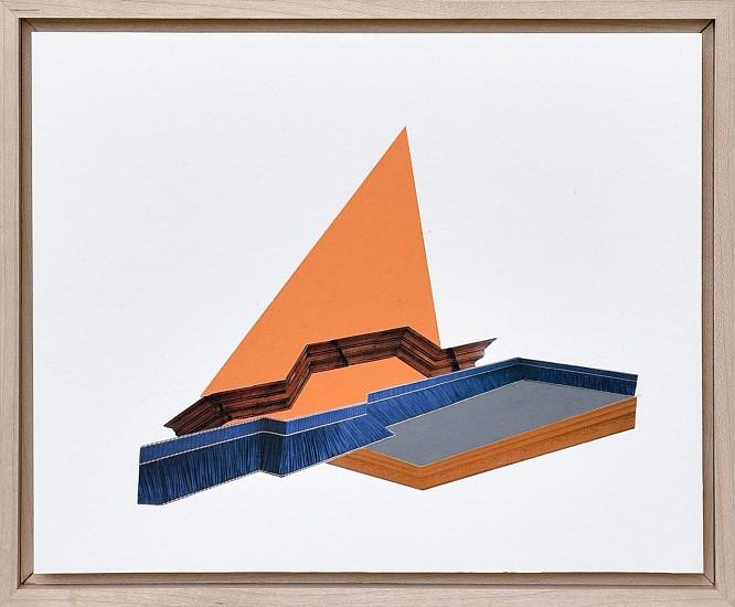 DERRICK VELASQUEZ, TRIM VOID 1 Collage and oil stick on paper