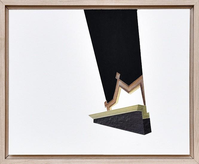 DERRICK VELASQUEZ, TRIM VOID 2 Collage and oil stick on paper