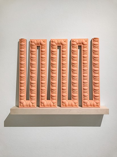 DERRICK VELASQUEZ, PRESERVATION OF MONUMENT: ULTIMATE TRACE foam trim molding, walnut, acrylic