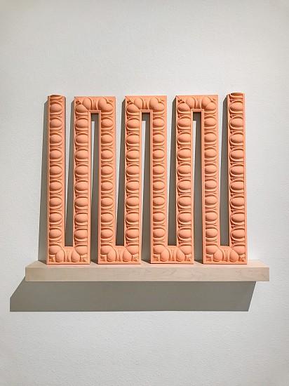 DERRICK VELASQUEZ, PRESERVATION OF MONUMENT: ULTIMATE TRACE foam trim molding, walnut, acrylic