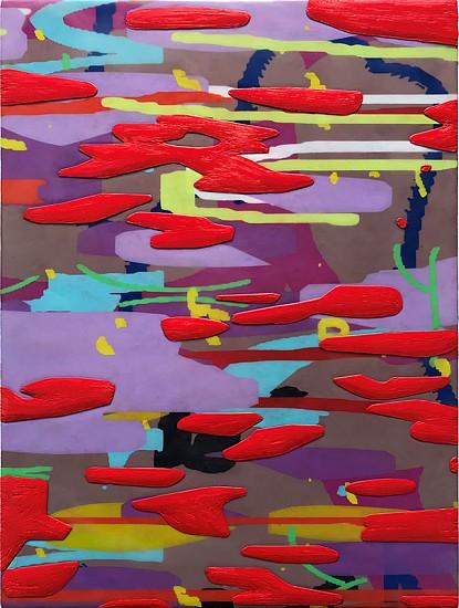 AMY ELLINGSON, VARIATION: purple (dawn) Study No. 3 oil and encaustic on panel