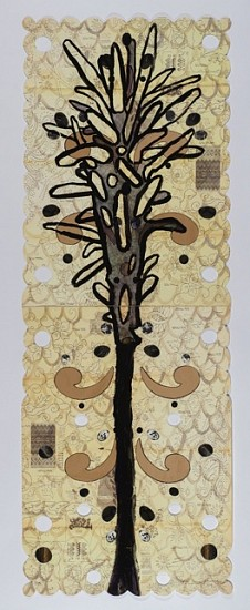 ANA MARIA HERNANDO, DARLINGTONIA CALIFORNICA acrylic and collage on lithograph with cut-outs