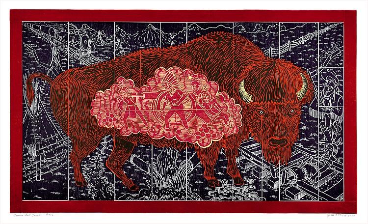 JOHN BUCK, CANNONBALL CREEK ED 12/15 color woodcut