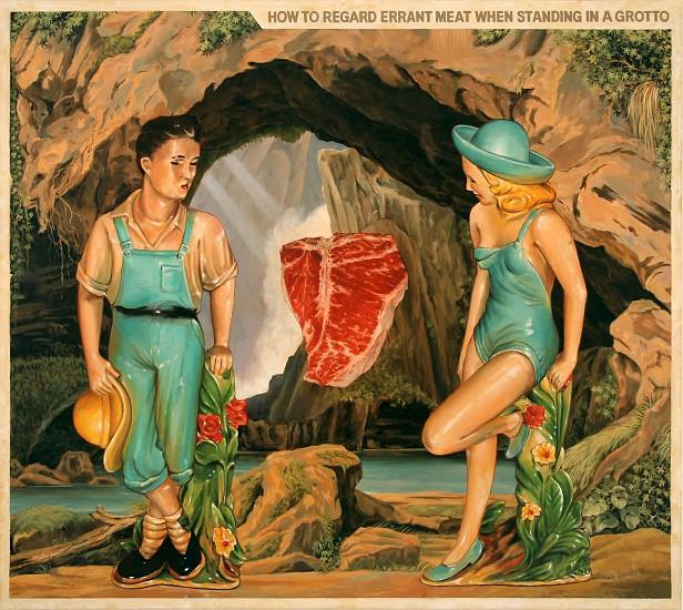 JERRY KUNKEL, DIY #5 INSTRUCTION MANUAL oil on canvas