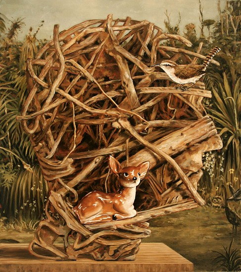 JERRY KUNKEL, PROFILE 3 (V.) oil on canvas
