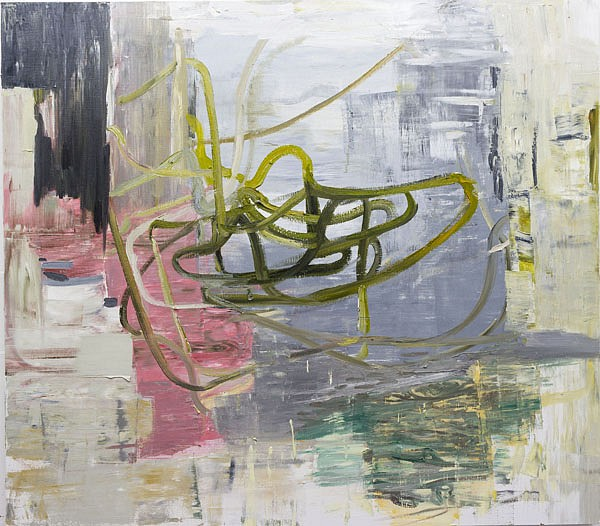 DEBORAH DANCY, THE FINAL FRONTIER oil on canvas