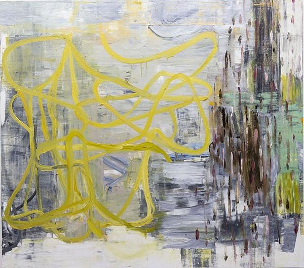 DEBORAH DANCY, YEAR OF LIVING DANGEROUSLY oil on canvas