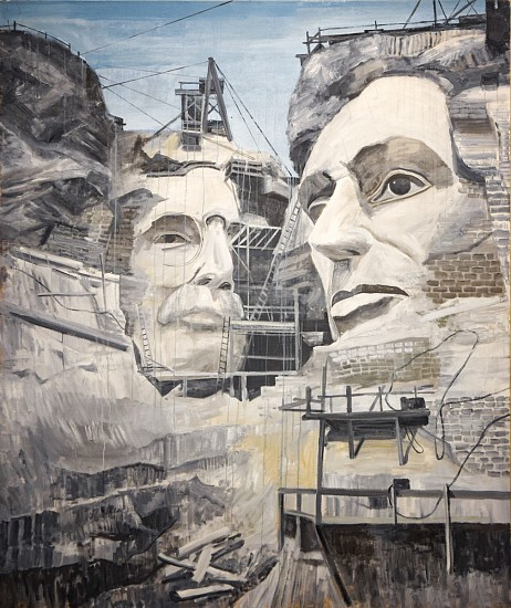 TOM JUDD, RUSHMORE oil on canvas