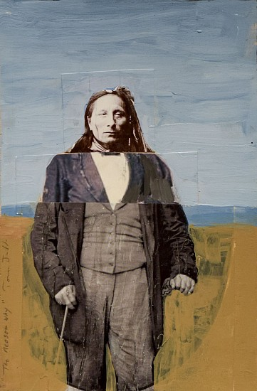 TOM JUDD, THE REASON WHY acrylic and collage on panel