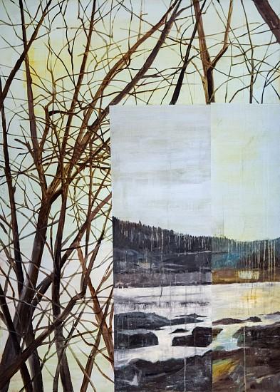 TOM JUDD, TREE TOPS oil on canvas
