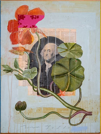 TOM JUDD, WASHINGTON oil on panel with found objects