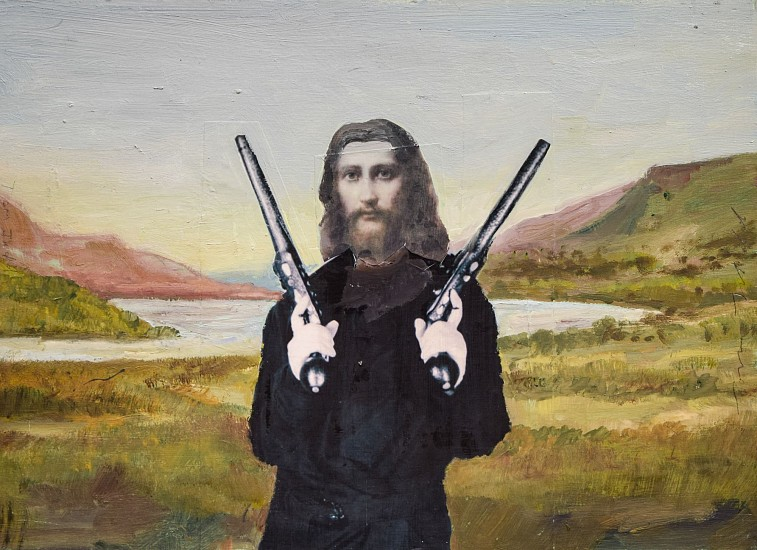 TOM JUDD, OPEN CARRY #2 acrylic and collage on paper