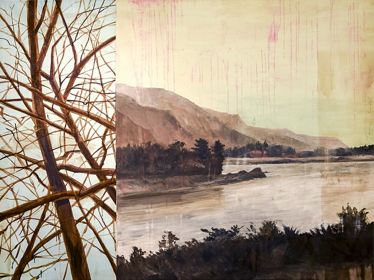 TOM JUDD, RIVER oil on canvas