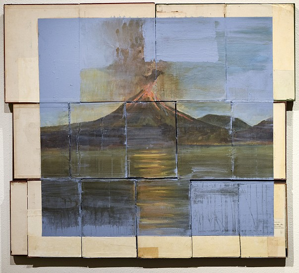 TOM JUDD, ABSOLVED oil on book covers on panel
